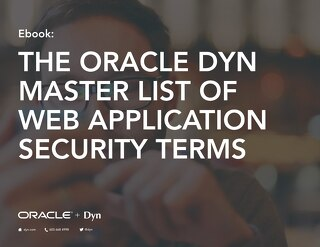 Oracle Dyn Web Application Security Terms