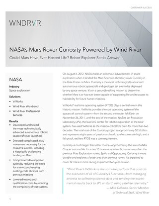 NASA's Mars Rover Curiosity Powered by Wind River