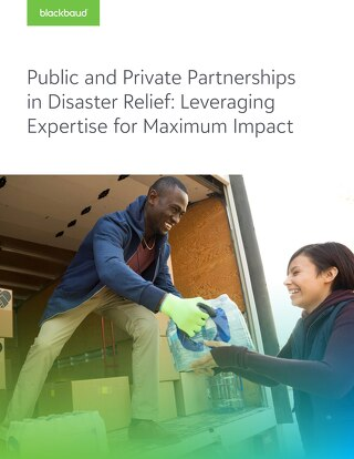 Public and Private Partnerships in Disaster Relief: Leveraging Expertise for Maximum Impact
