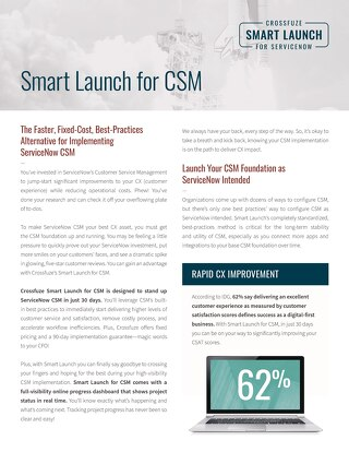 Crossfuze Smart Launch for CSM Sell Sheet
