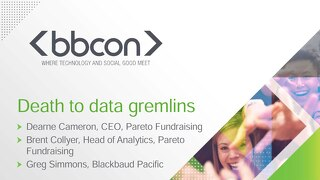 Your Data. Only Better - Dearne Cameron, Brent Collyer and Greg Simmons