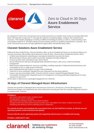 Azure Enablement Service