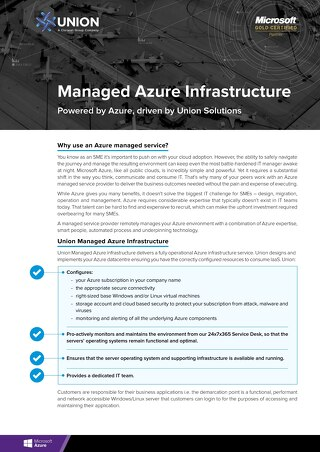 Managed Azure Infrastructure