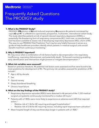 Respiratory Compromise PRODIGY FAQ