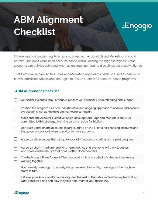 ABM Alignment Checklist  |  Engagio