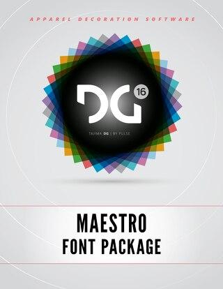 DG16 MAESTRO FONTS