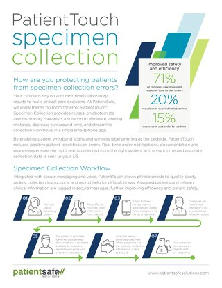PatientTouch Specimen Collection