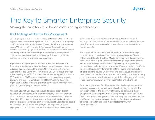 The Key To Smarter Enterprise Security