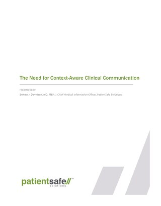 The Need for Context-Aware Clinical Communication Whitepaper (Sept 2016)