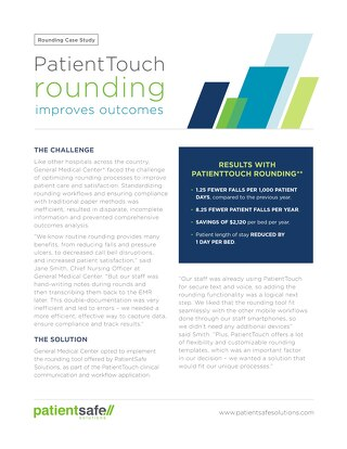 PatientTouch Rounding Case Study (July 2018)