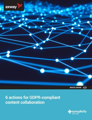 6 Actions for GDPR-Compliant Content Collaboration