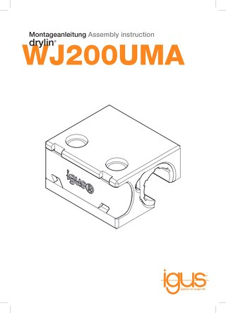 drylin WJ200UMA assembly instructions