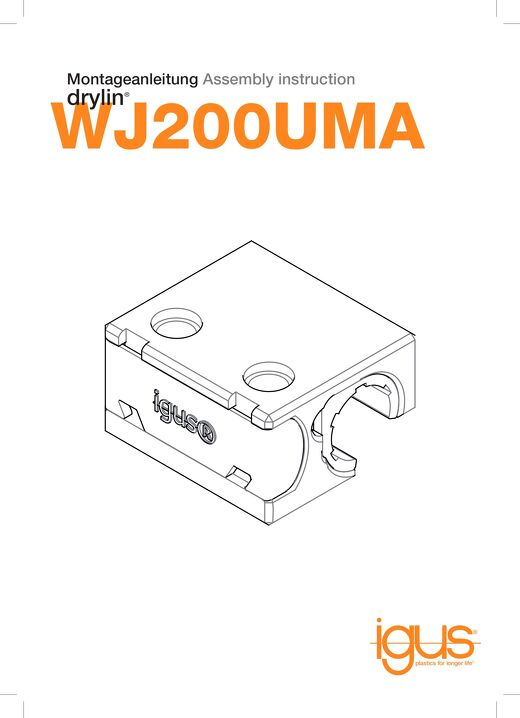 drylin WJ200UMA assembly instructions