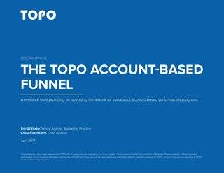 [E-Book] The TOPO Account-Based Funnel