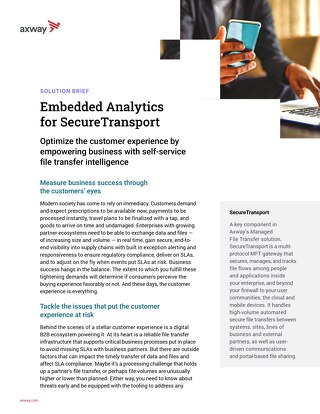 Embedded Analytics for AMPLIFY™ SecureTransport
