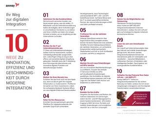 10 Wege Zu Innovation, Effizienz Und Geschwindigkeit Durch Moderne Integration