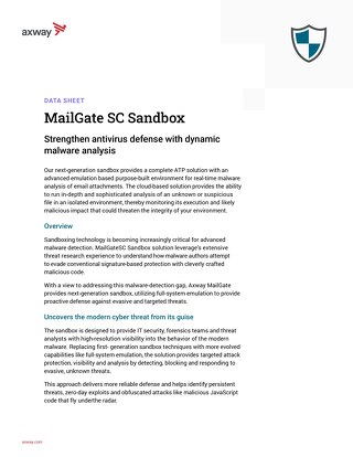 Axway Mailgate SC Sandbox