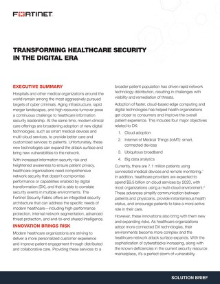 Transforming Healthcare Security in the Digital Era