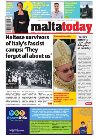 MaltaToday 9 September 2018