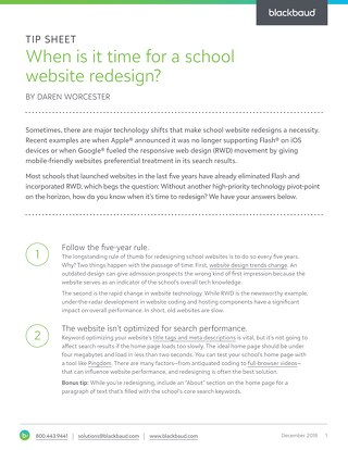 When is it time for a school website redesign?