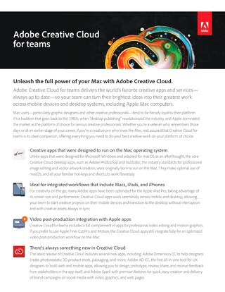 Unleash the full power of your Mac with Adobe Creative Cloud