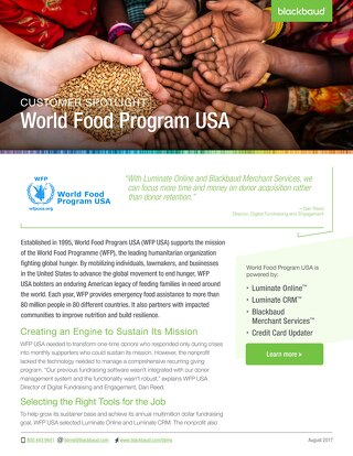 CustomerStory: World Food Program