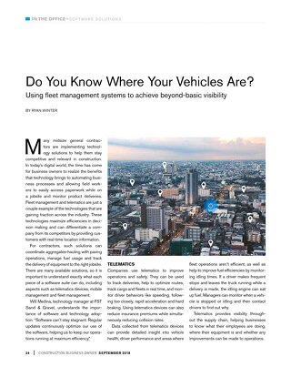 Do You Know Where Your Vehicles Are?