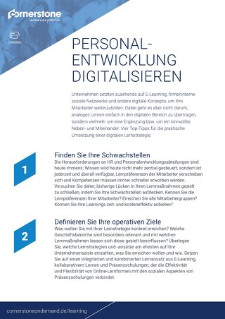 Personal - Entwicklung digitalisieren