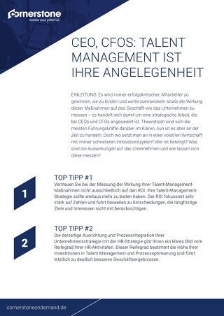 CEO, CFOS - Top Tipp - Talent management ist ihre angelegenheit