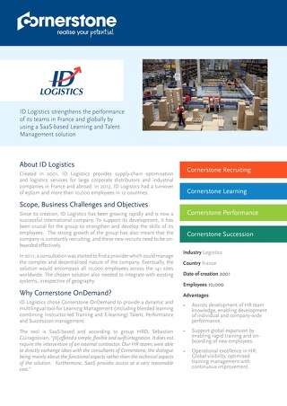 Case Study ID LOGISTICS