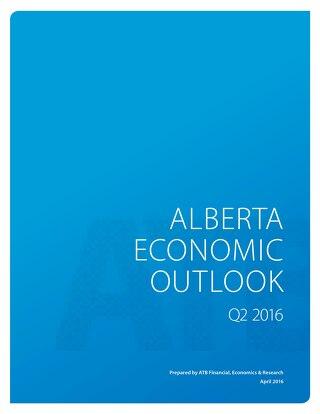 Alberta Economic Outlook (Q2 - 2016)