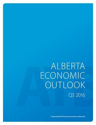 Alberta Economic Outlook (Q3 - 2016)