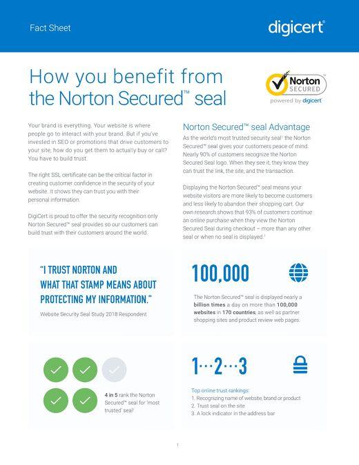 Norton Secured™ seal Factsheet
