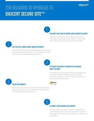 Top 10 Reasons to Upgrade to DigiCert Secure Site Today
