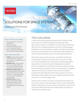 Solutions for Space Systems Use Case