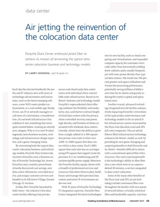 Air jetting the reinvention of the colocation data center