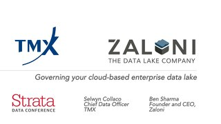 Governing your cloud-based enterprise data lake - Strata Data Conference New York 2018