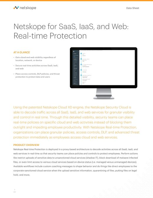 Netskope Real-Time Protection