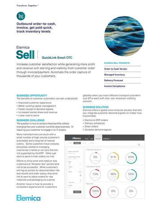 Elemica Sell: QuickLink Email OTC