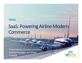 [Slides] SaaS: Powering Airline Modern Commerce