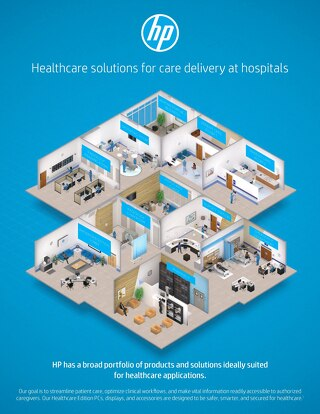 HP has a broad portfolio of products and solutions ideally suited for healthcare.