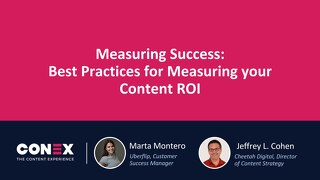 Workshop: Measuring Success- Analytics, AI, Metrics