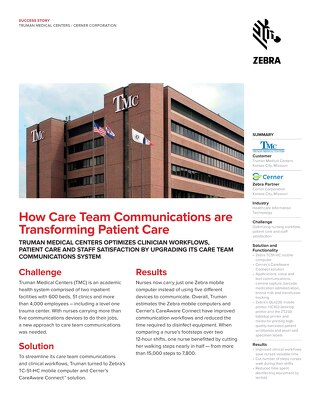 Zebra - How Care Team Communications are Transforming Patient Care