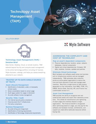 Nlyte TAM Solution Brief