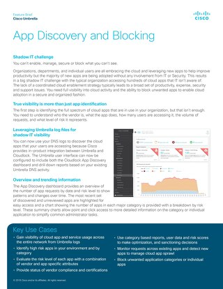 Cisco Umbrella App Discovery and Blocking