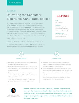 J.D. Power: Delivering the Consumer Experience Candidates Expect