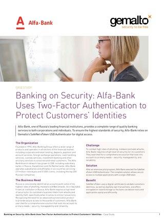 Alfa Bank Case Study