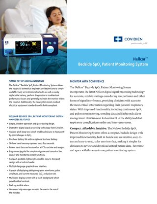 Nellcor™ Bedside SpO2 Patient Monitoring System