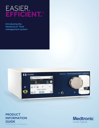 HysteroLux™ Hysteroscopic Fluid Management System Product Information Brochure
