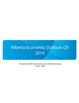 Alberta Economic Outlook - Q3 2014